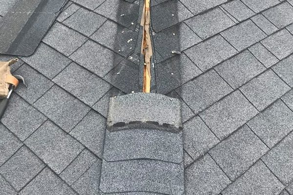 Roof repair to hip and ridge caps