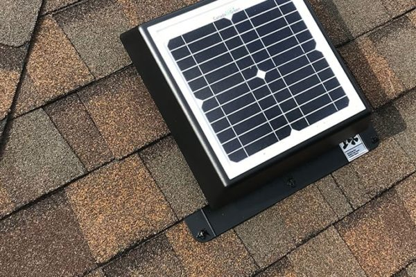 Improve attic airflow with available solar powered ventilation
